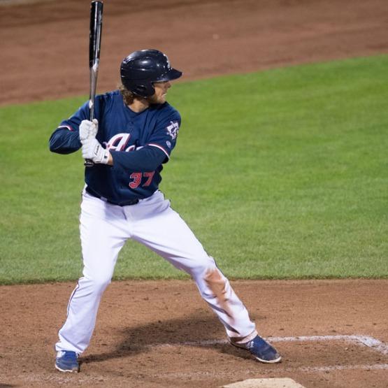 Kyle Jensen has multiple RBI in three of his last four games. (David Calvert/Reno Aces)