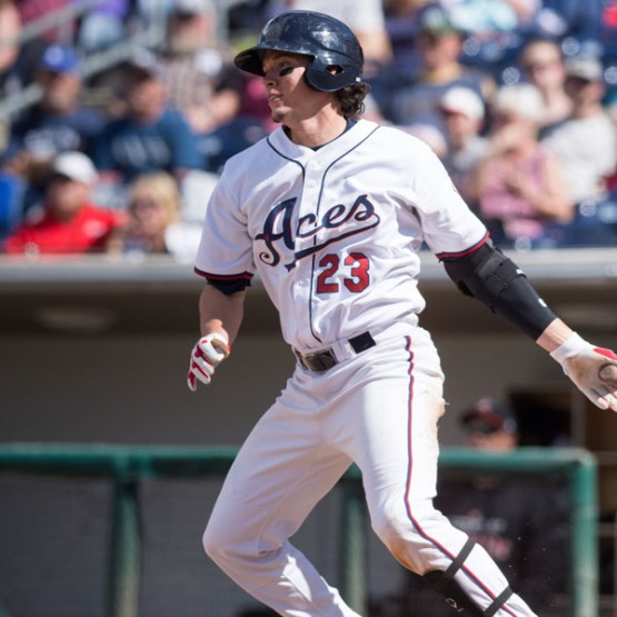Peter O'Brien now has 50 career home runs with the Aces. (David Calvert/Reno Aces)