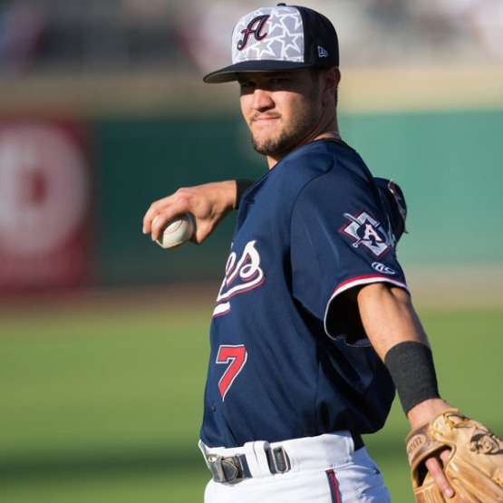 Shortstop Jack Reinheimer has had a hand in a team-high 75 of Reno's PCL-best 113 double plays. (David Calvert/Reno Aces)