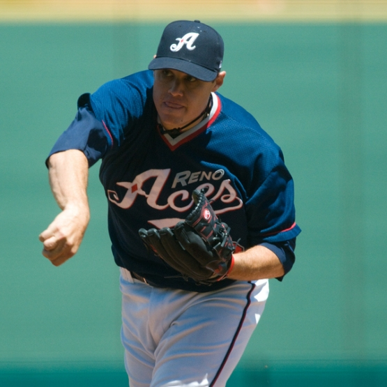 Pictured here during a 2010 game, Billy Buckner will make his first start for the Aces in  more than six years. (David Calvert/Reno Aces)