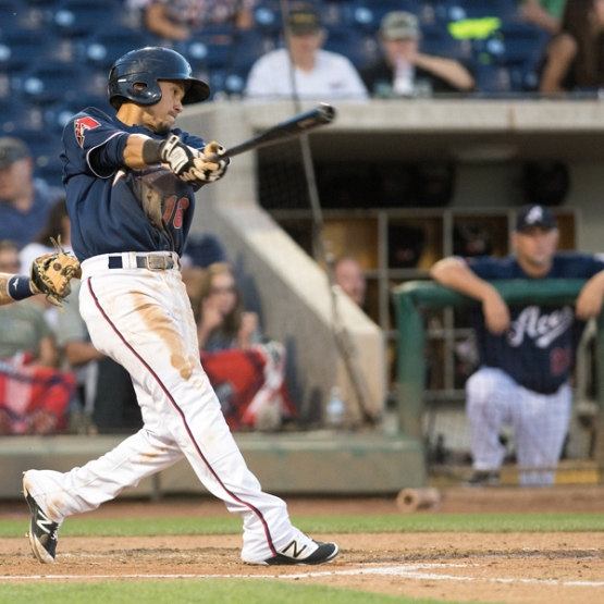Ildemaro Vargas is batting .348 in 35 games with Reno. (David Calvert/Reno Aces)