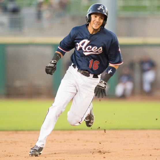 Ildemaro Vargas is 8-for-8 on stolen-base attempts with the Aces. (David Calvert/Reno Aces)
